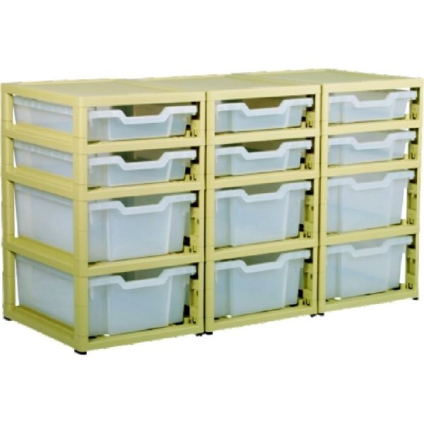 Little Gem 6 Shallow/6 Deep Tray Unit Clear