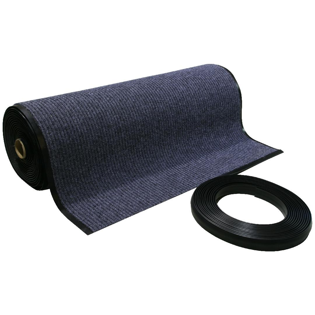 Needle Rib Roll Charcoal No Edging 90cmWx1800cmL