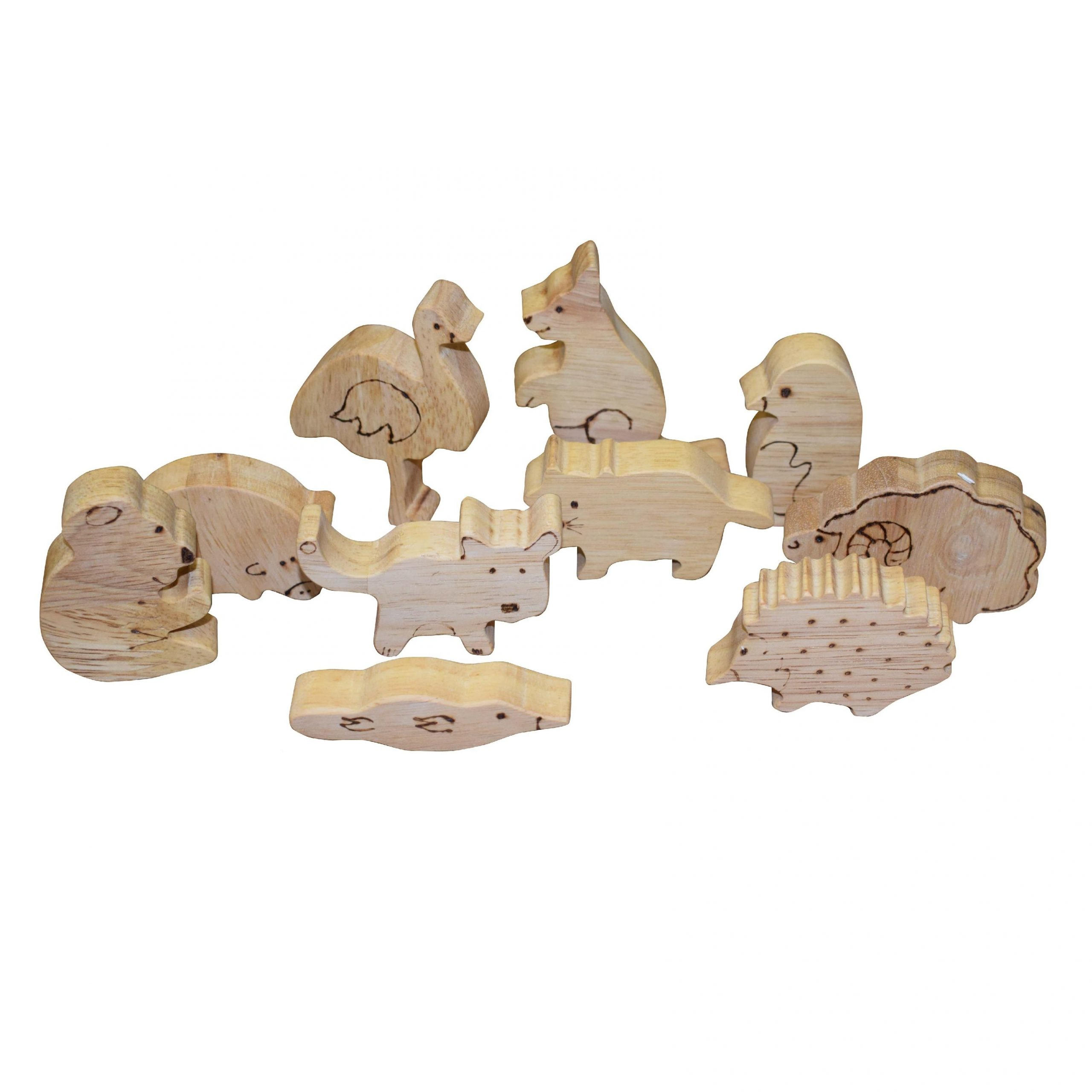 Timber Australian Animal Set (10pcs)