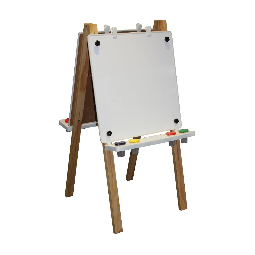 Natural Double Easel Magnetic Whiteboard