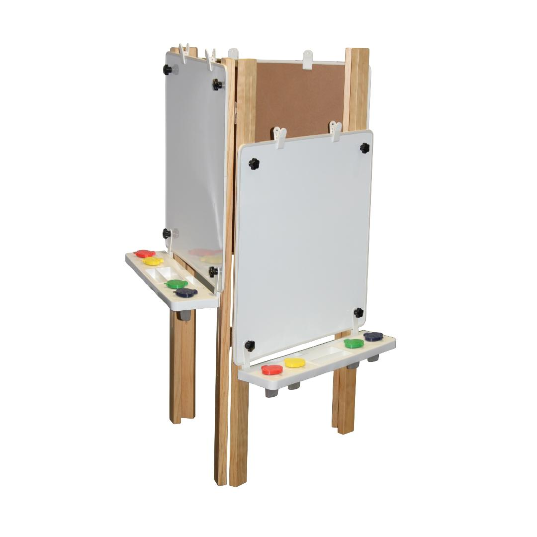 Natural Triple Easel Magnetic Whiteboard