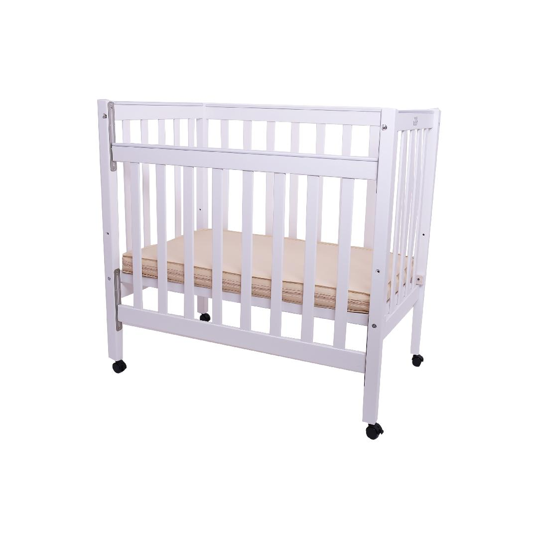 White Wooden Cot & Mattress