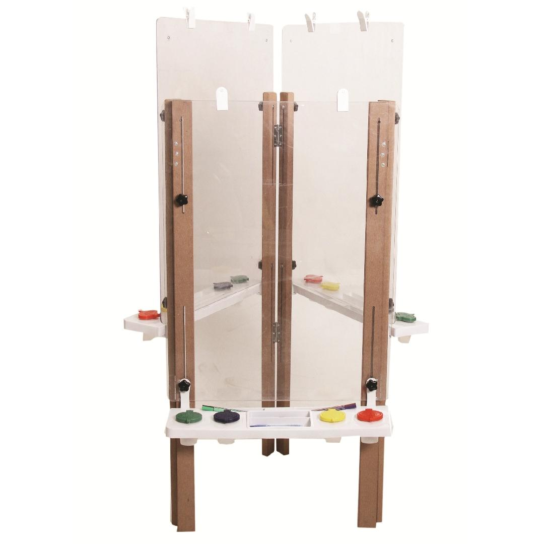 Outdoor Triple Easel Clear
