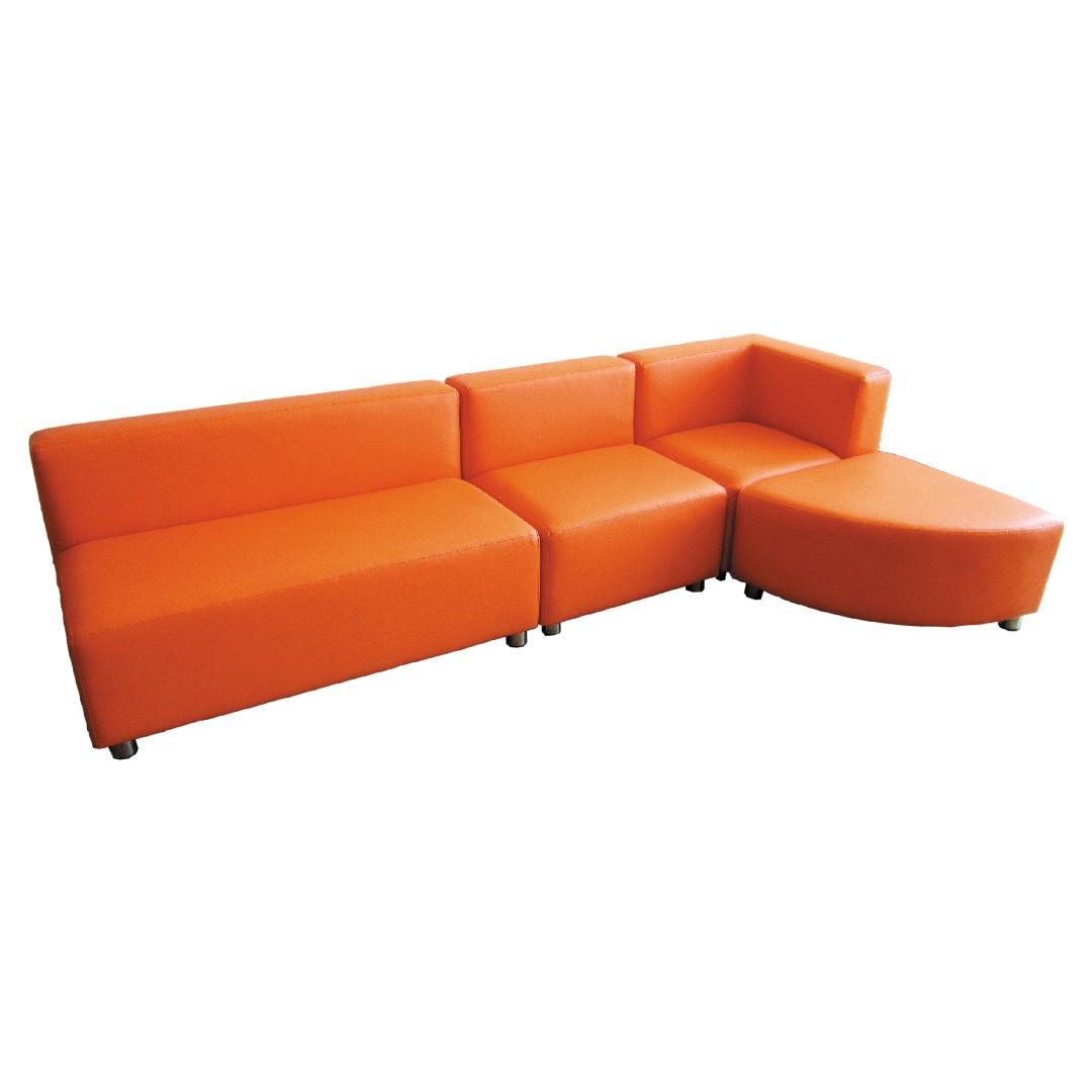 Modern Sofa Setting Tangerine (4pcs)