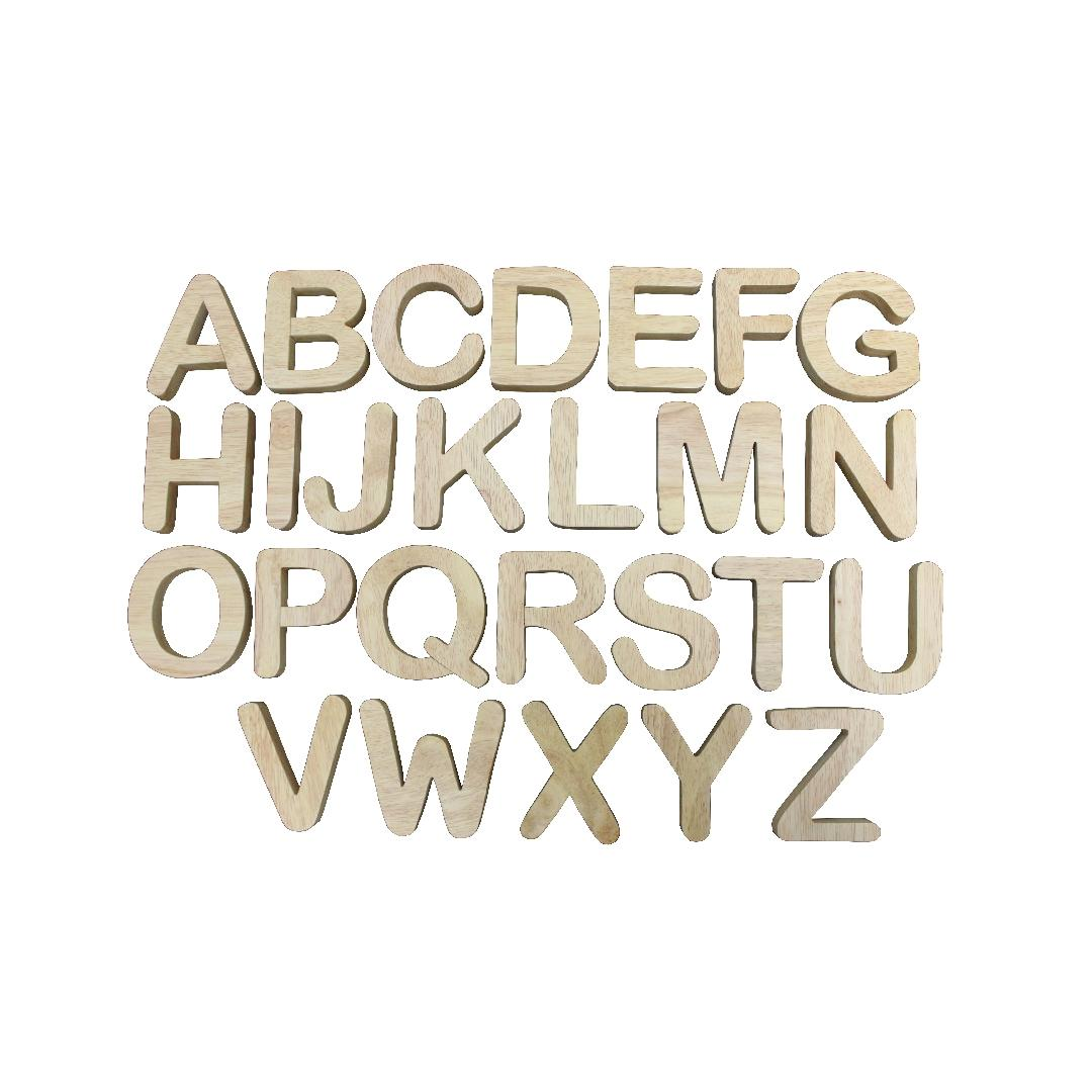 Large Natural Wooden Letters (26pcs)