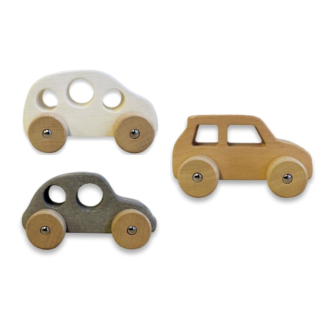 Wooden Push Along Cars (6pcs)