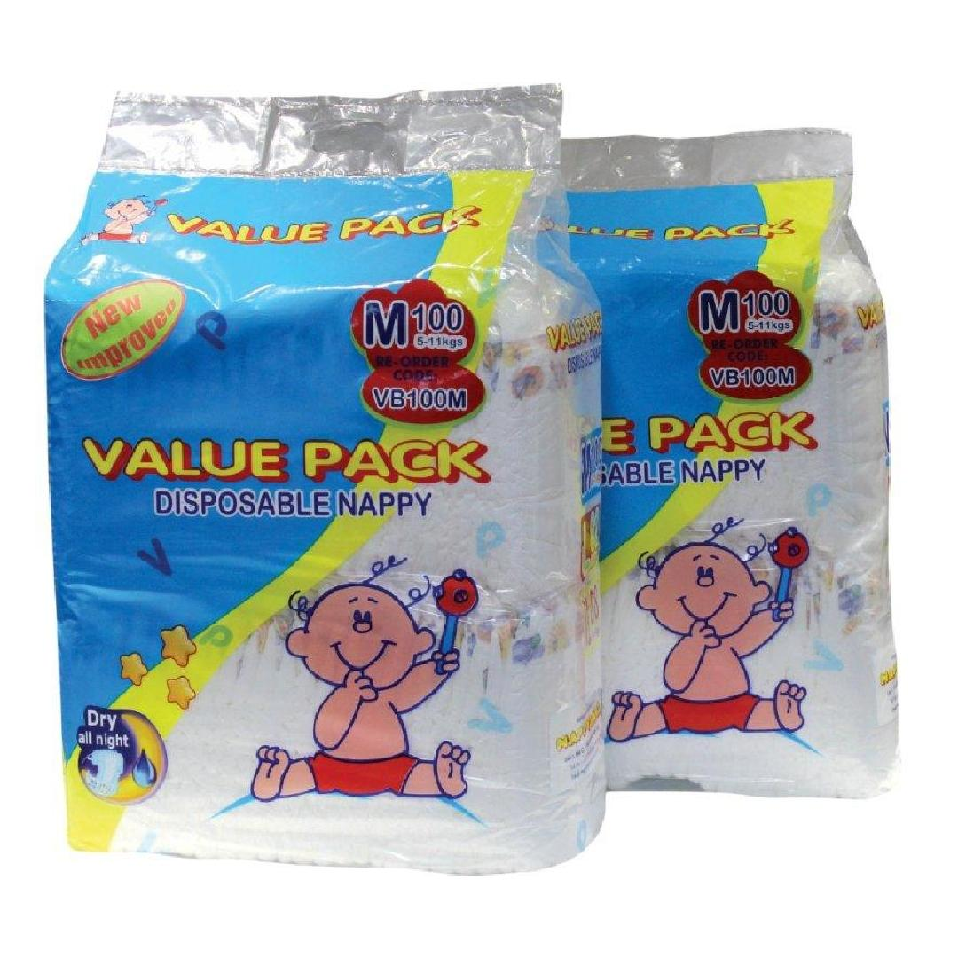 Value Pack Crawler 5-11kg Nappies (100pk)