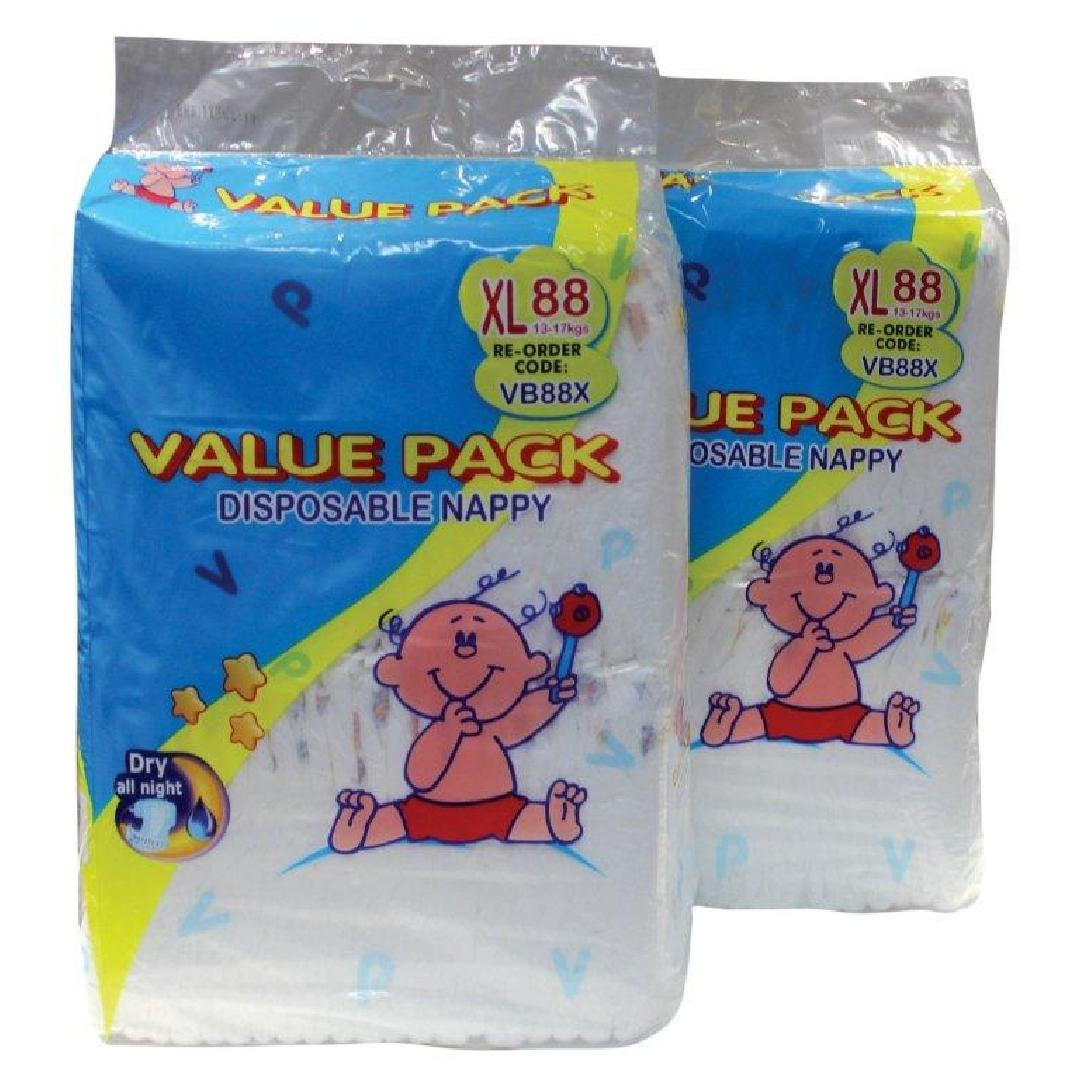 Value Pack Walker 13-17kg Nappies (88pk)