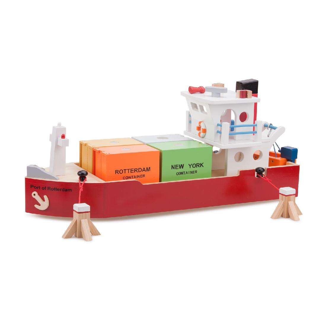 Wooden Container Ship Set