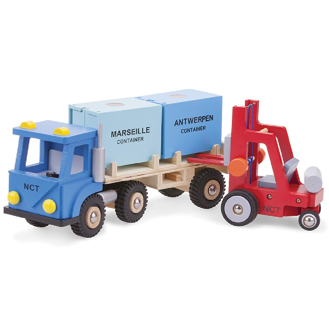 Wooden Container Truck Set