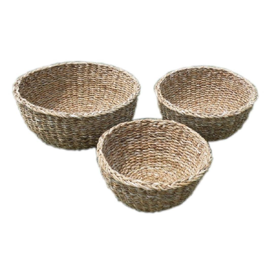 Round Seagrass Bowls (Set of 3)