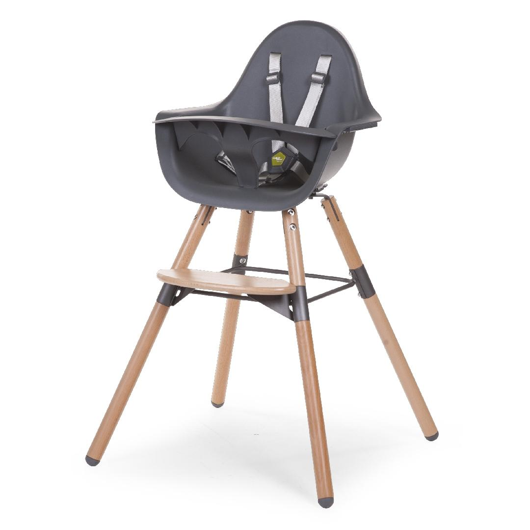 Bjorg Highchair with Tray Graphite