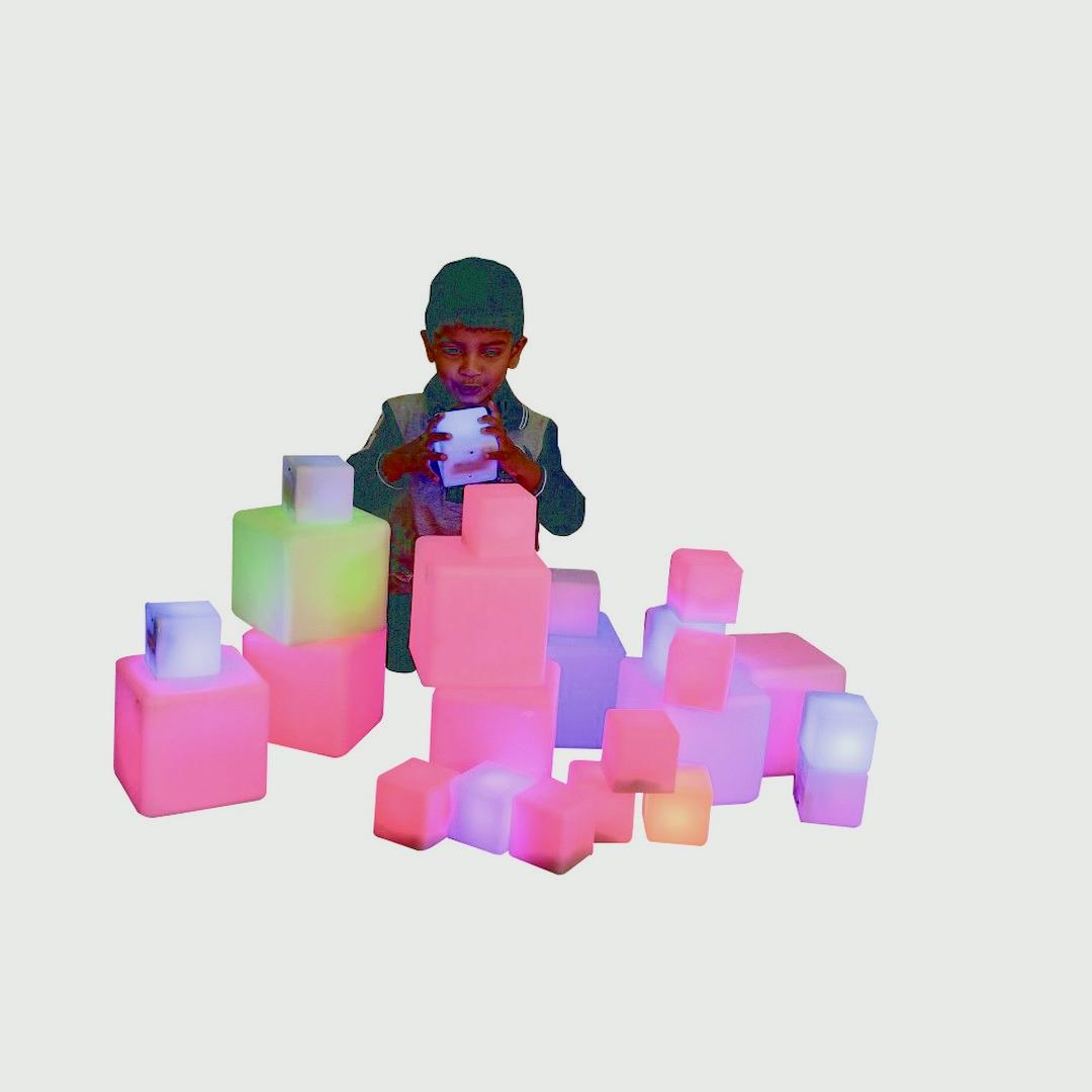 Glow Construction Blocks (12 Pack)