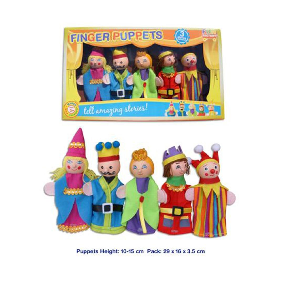King & Queen Finger Puppets with Storybook (6pcs)