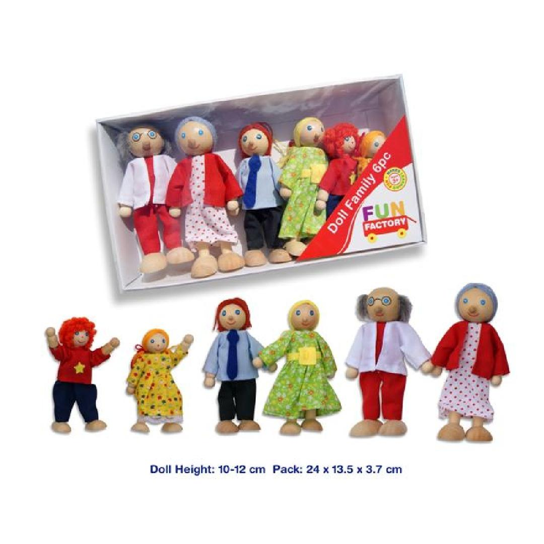 Wooden Family (6pcs)