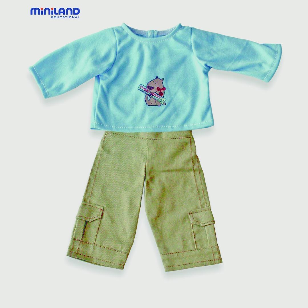 Boys Dolls Clothes 32cm Blue Shirt