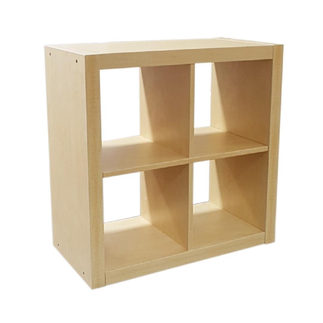 Cubic - 2x2 Open Cubby Unit Natural Birch