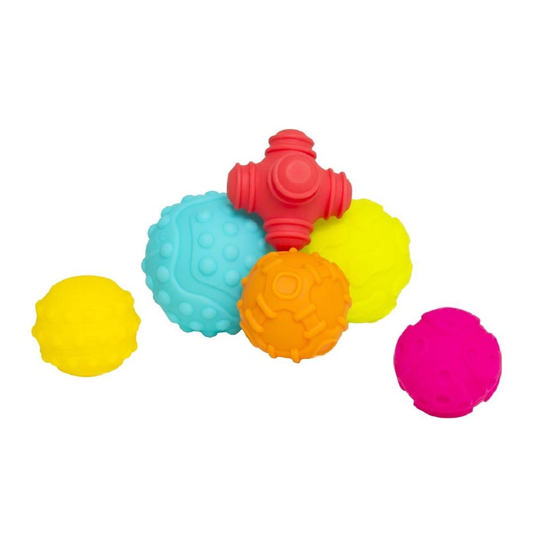 Rubber Texture Balls (6pcs)
