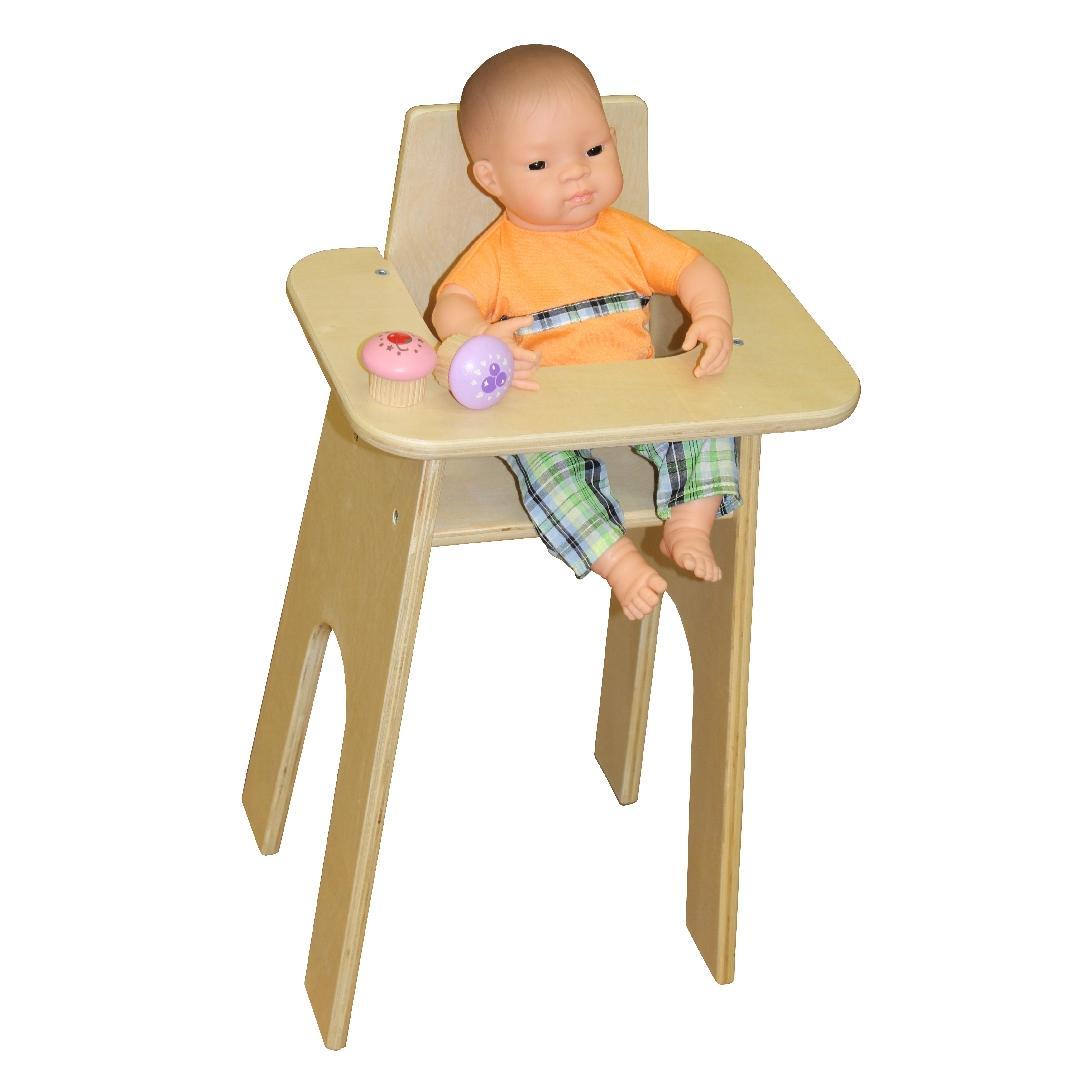 Birchwood Natural Wooden Doll High Chair