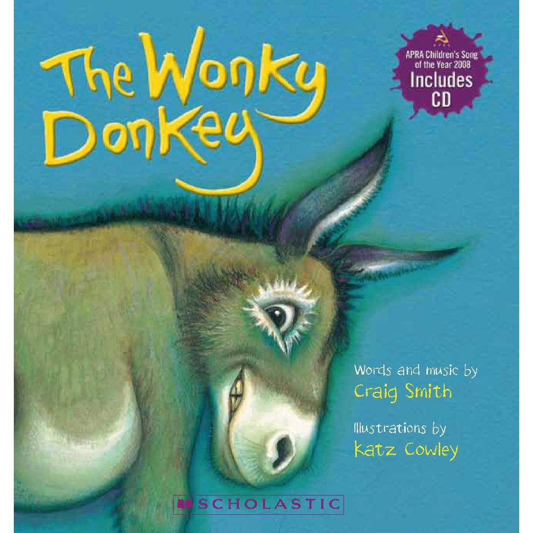 The Wonkey Donkey Baby Book + CD