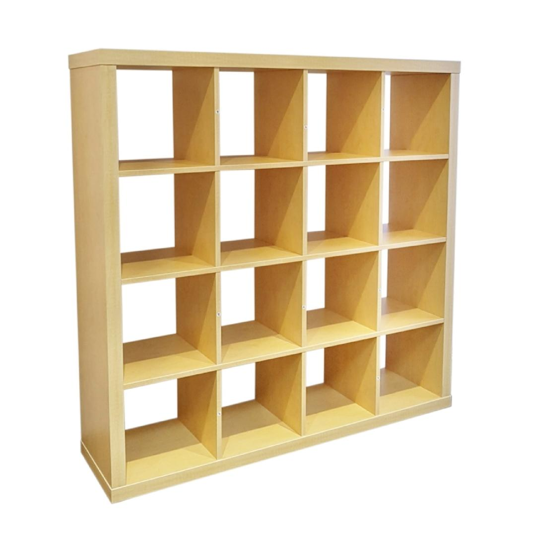 Cubic - 4x4 Open Cubby Unit Natural Birch