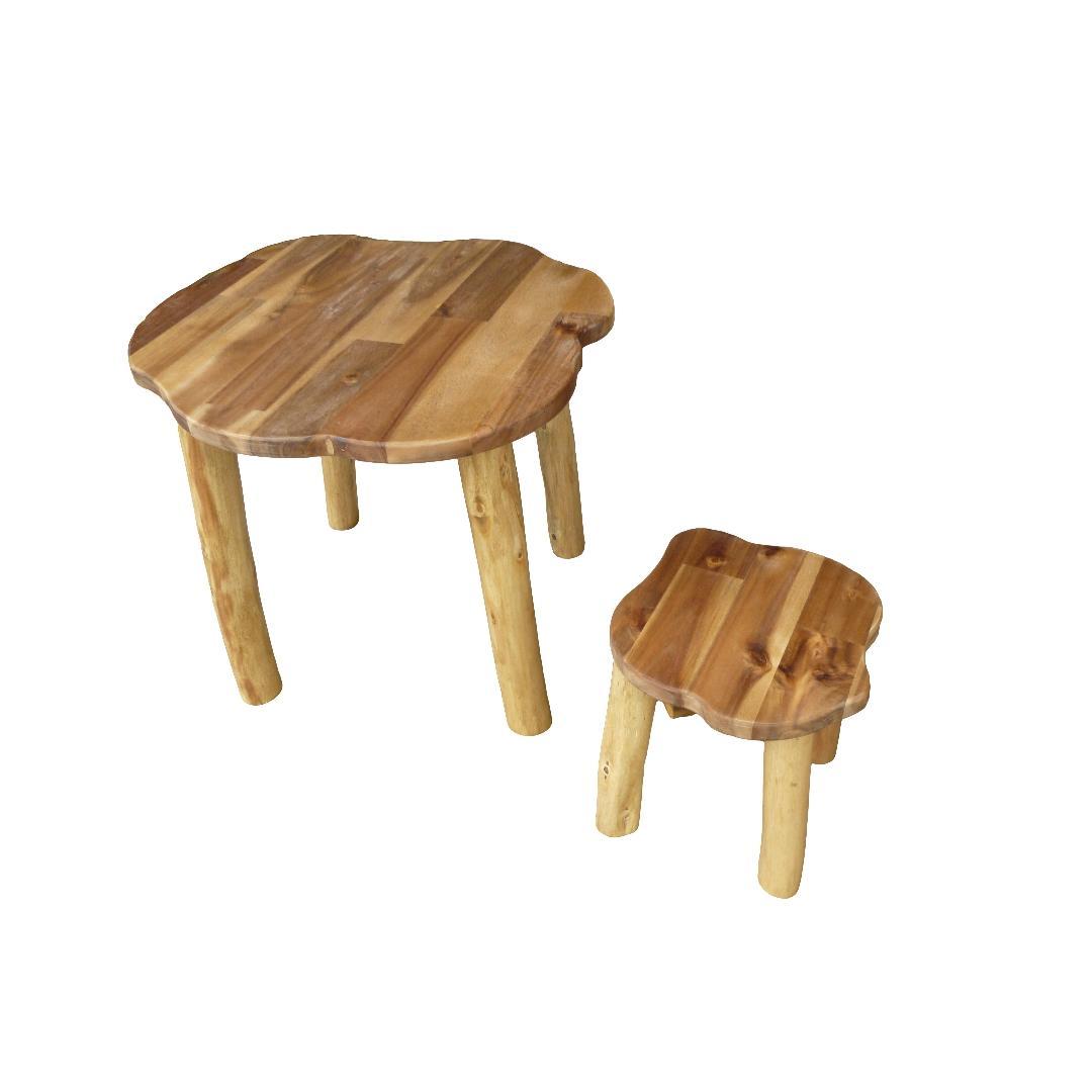 Treewood Table & Stool Set