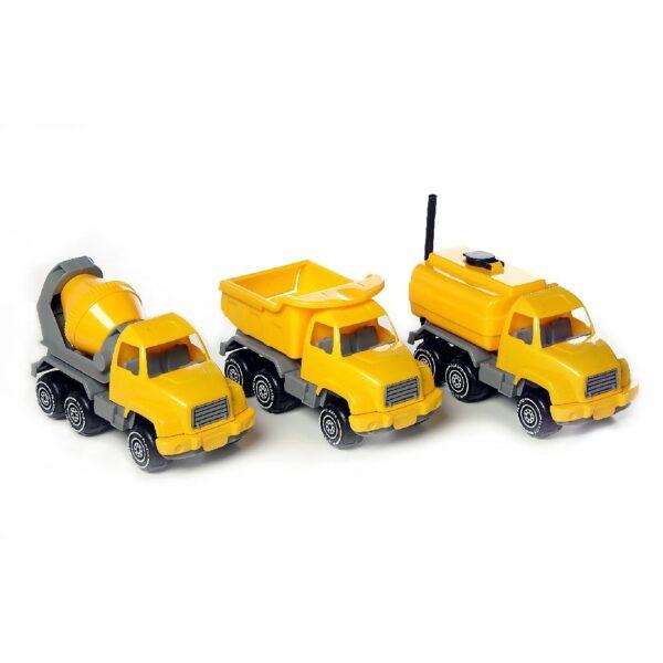 Construction Vehicle Set Yellow (3pcs)