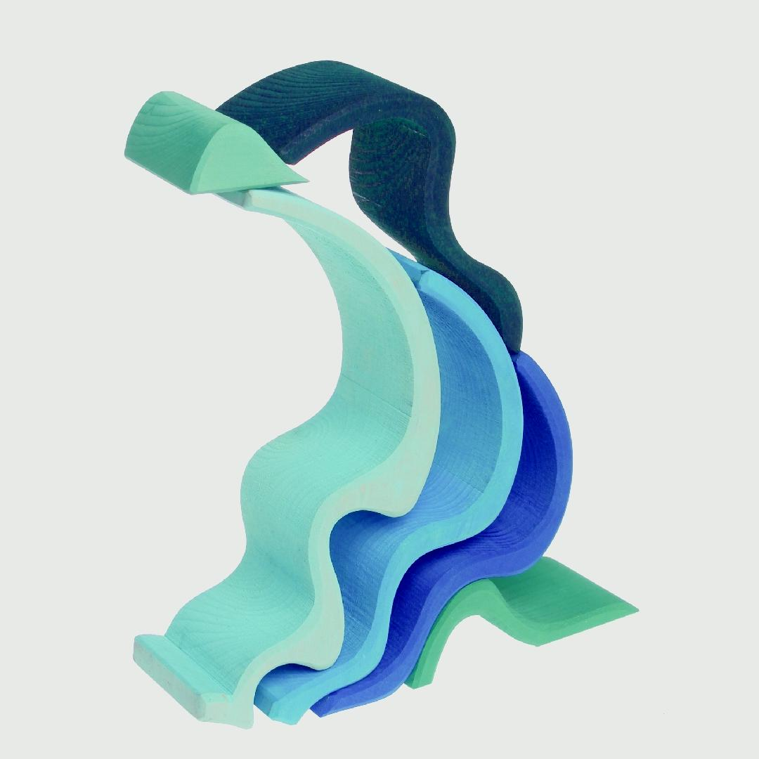 Large Wooden Waterwaves (6pcs)