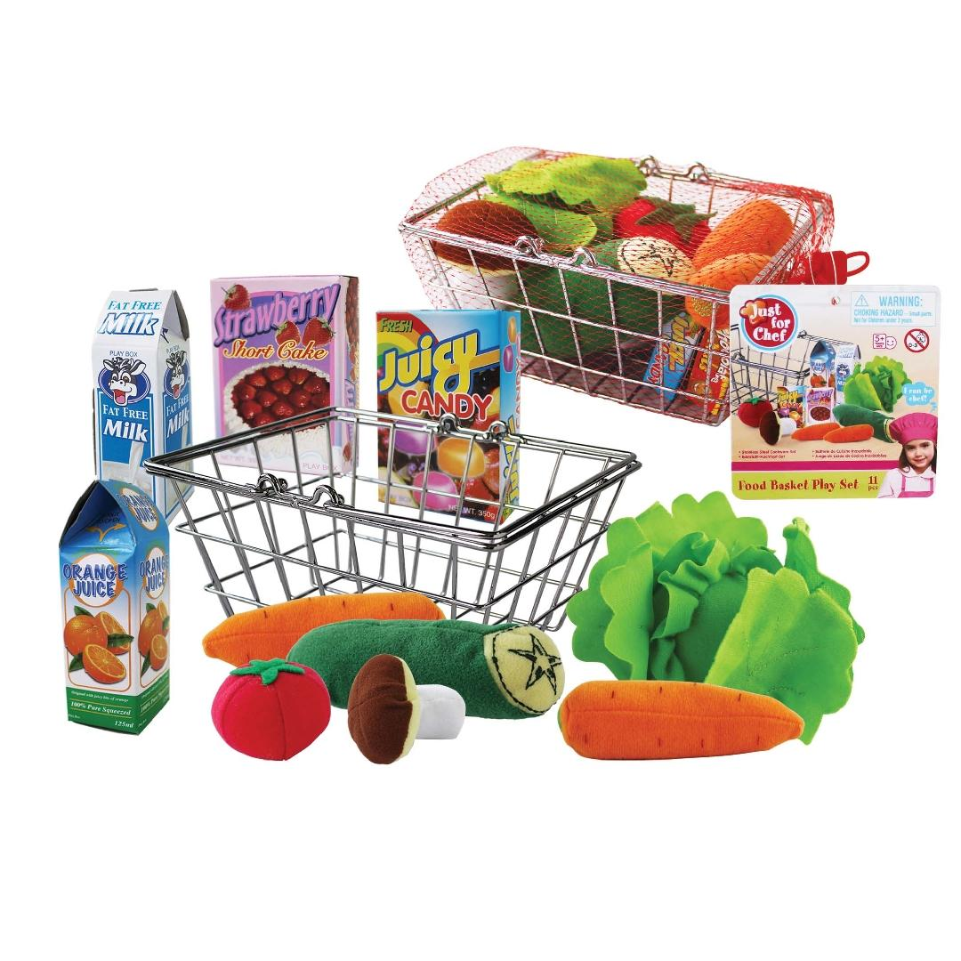 Shopping Basket with Food