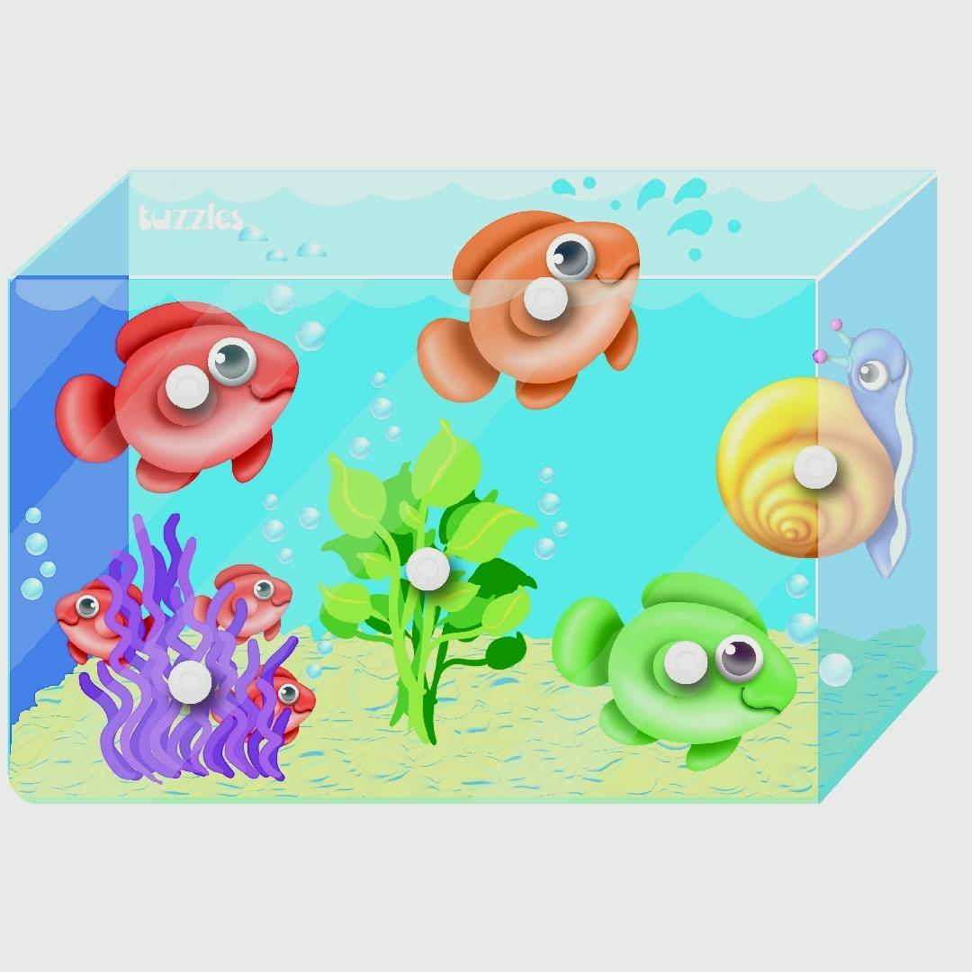 Fish Tank Knob Puzzle