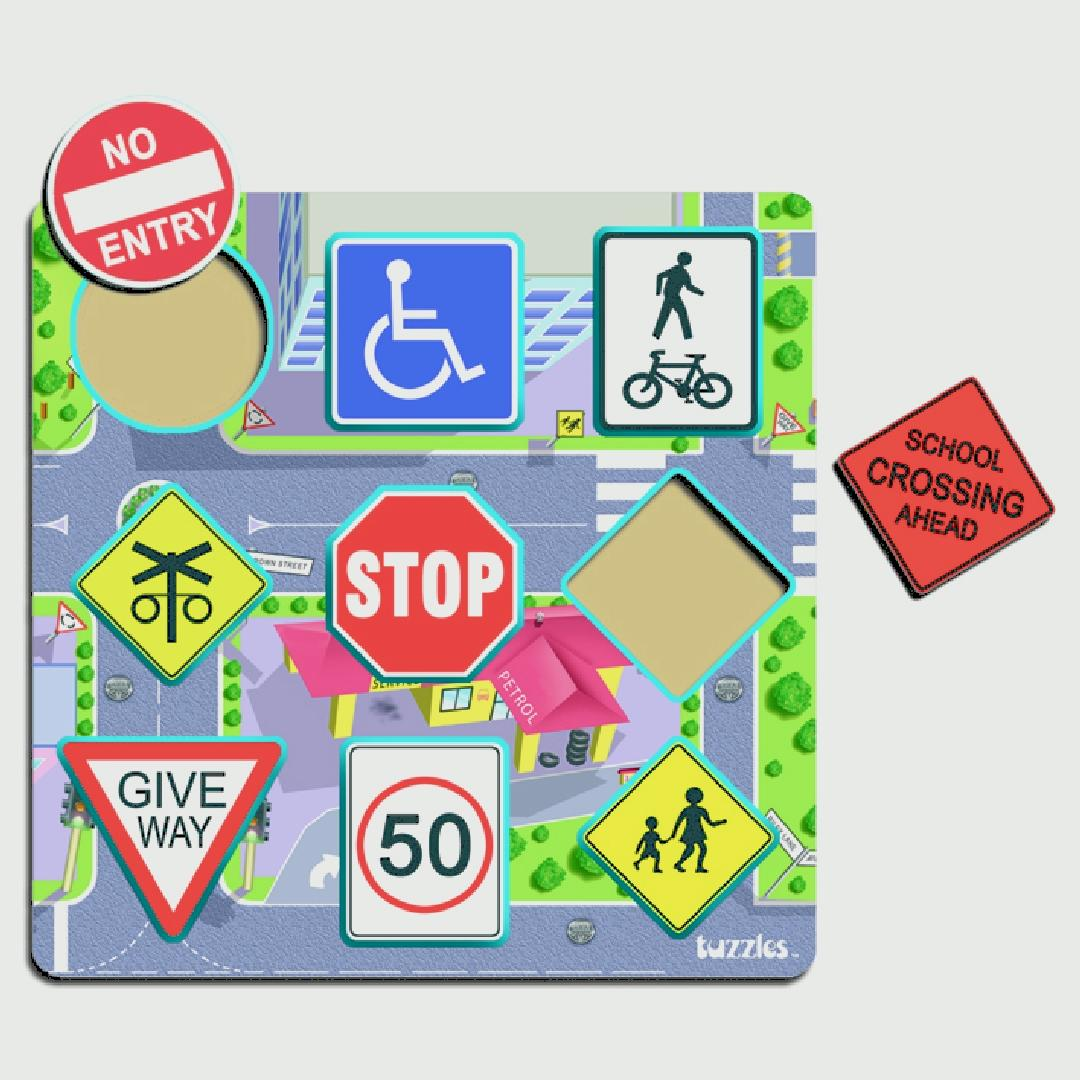 Road Traffic Signs Puzzle (9pcs)