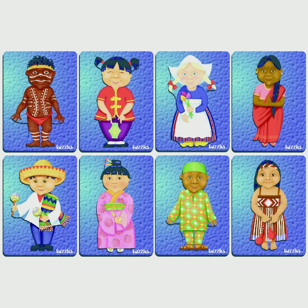 Children of the World Puzzles (Set of 8)