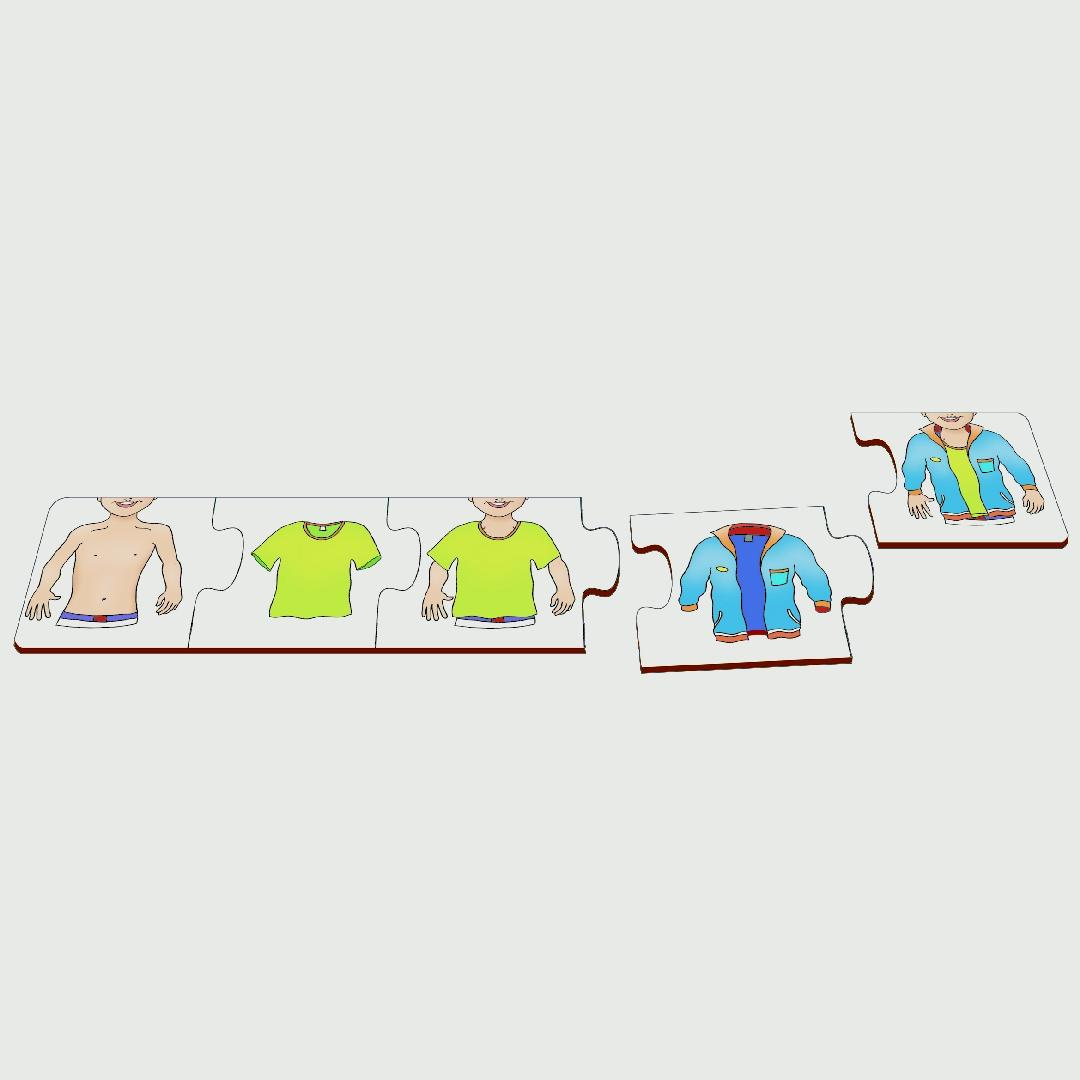 Shirt and Jacket Sequence Puzzle (5pcs)