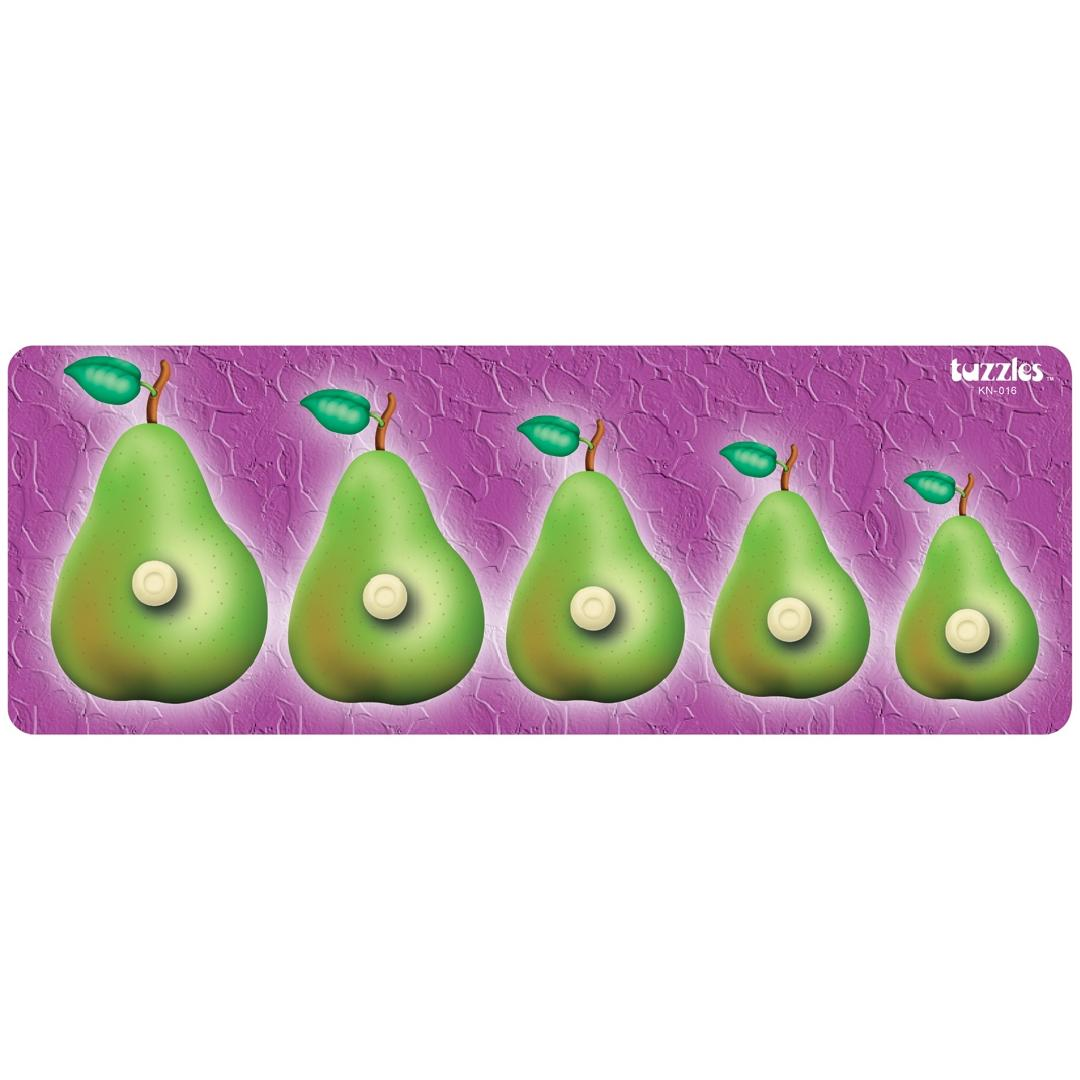 Pear Sequence Peg Puzzle (5pcs)