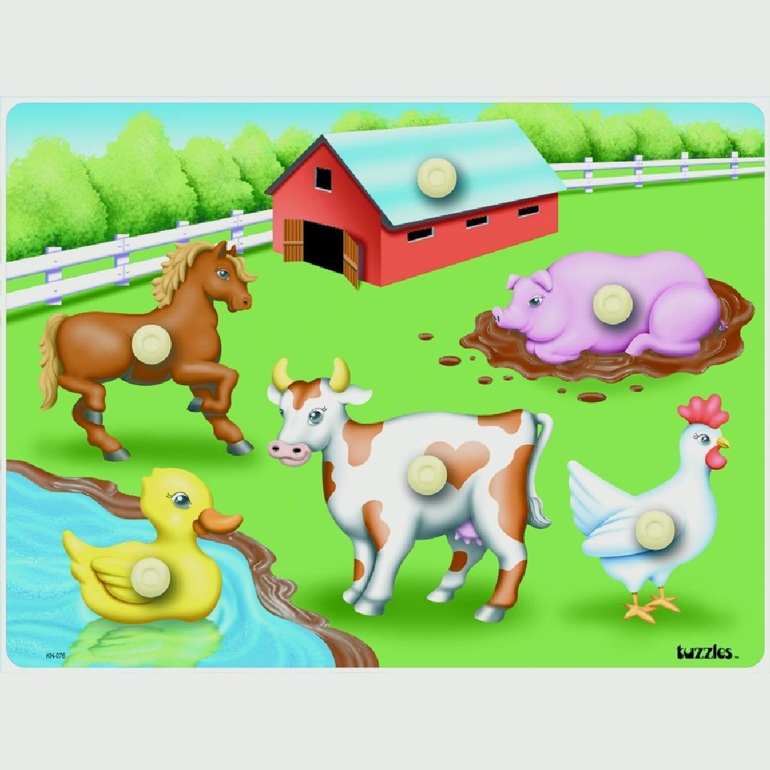 Farm Peg Puzzle (6pcs)