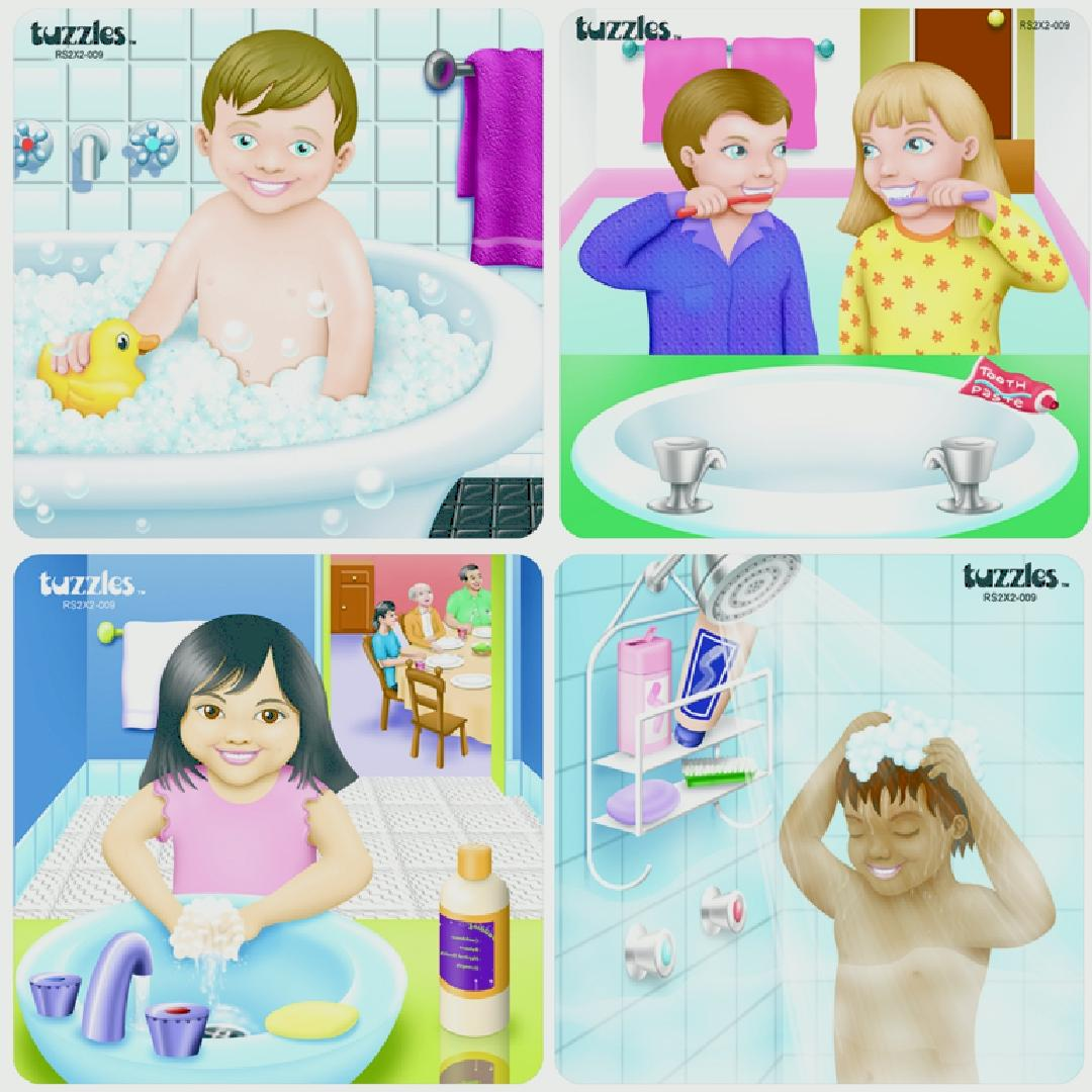 Good Hygiene Raised Puzzles (Set of 4)