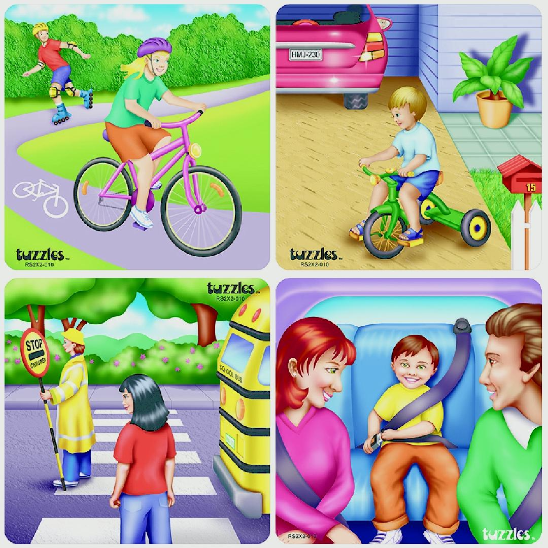 Road Awareness Raised Puzzles (Set of 4)