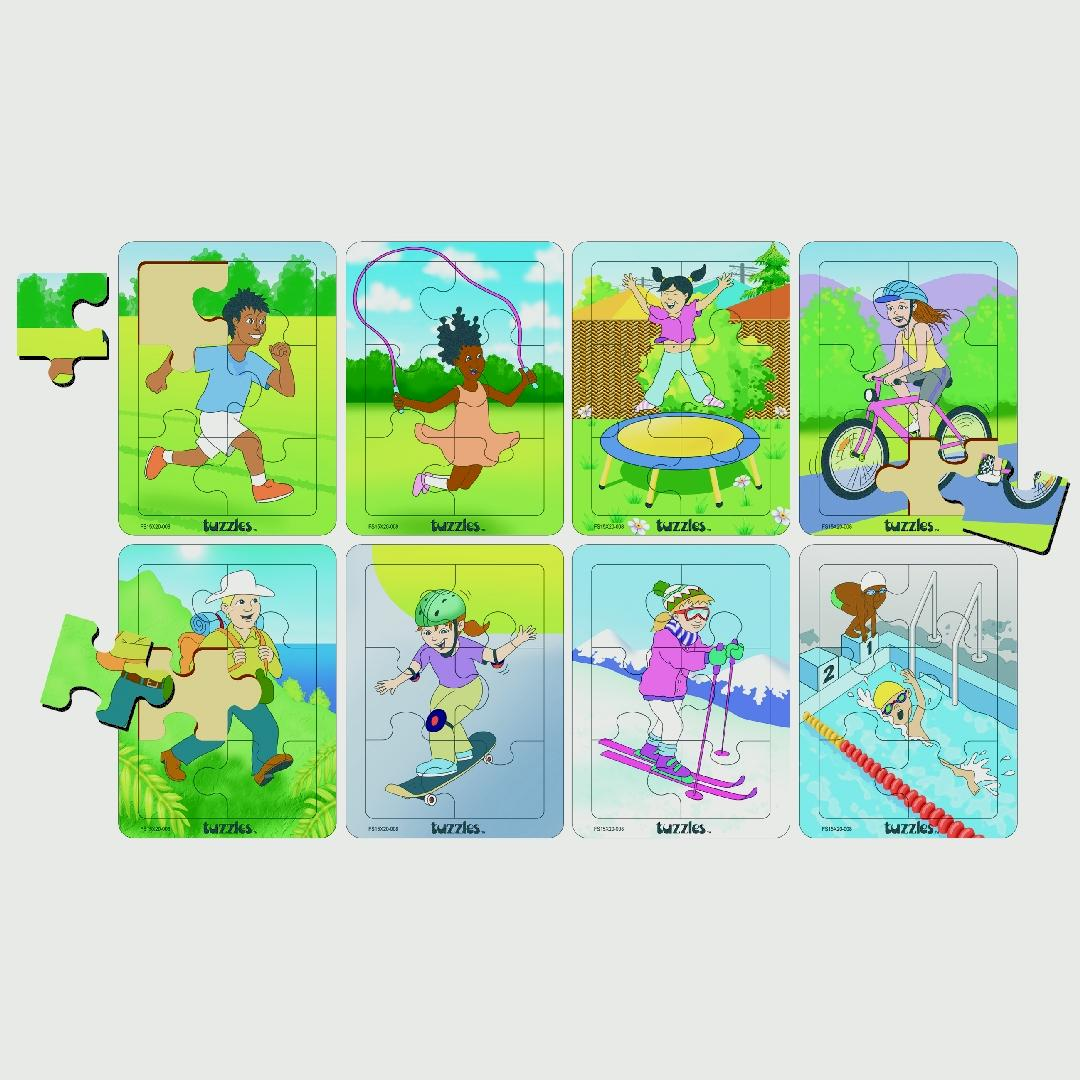 Fit & Healthy Activities Puzzles (Set of 8)