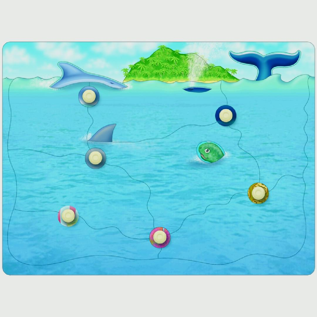Who Lives In the Ocean Layered Peg Puzzle
