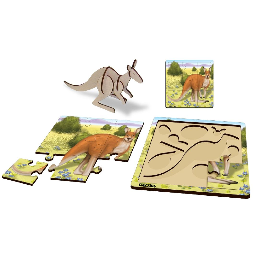 Layered Kangaroo Puzzle (17pcs)
