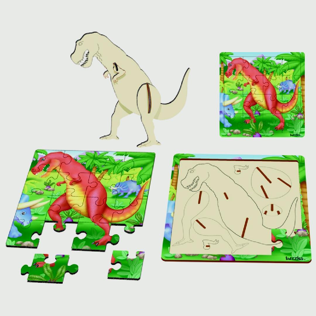 Layered Tyrannosaurus Rex Puzzle (17pcs)