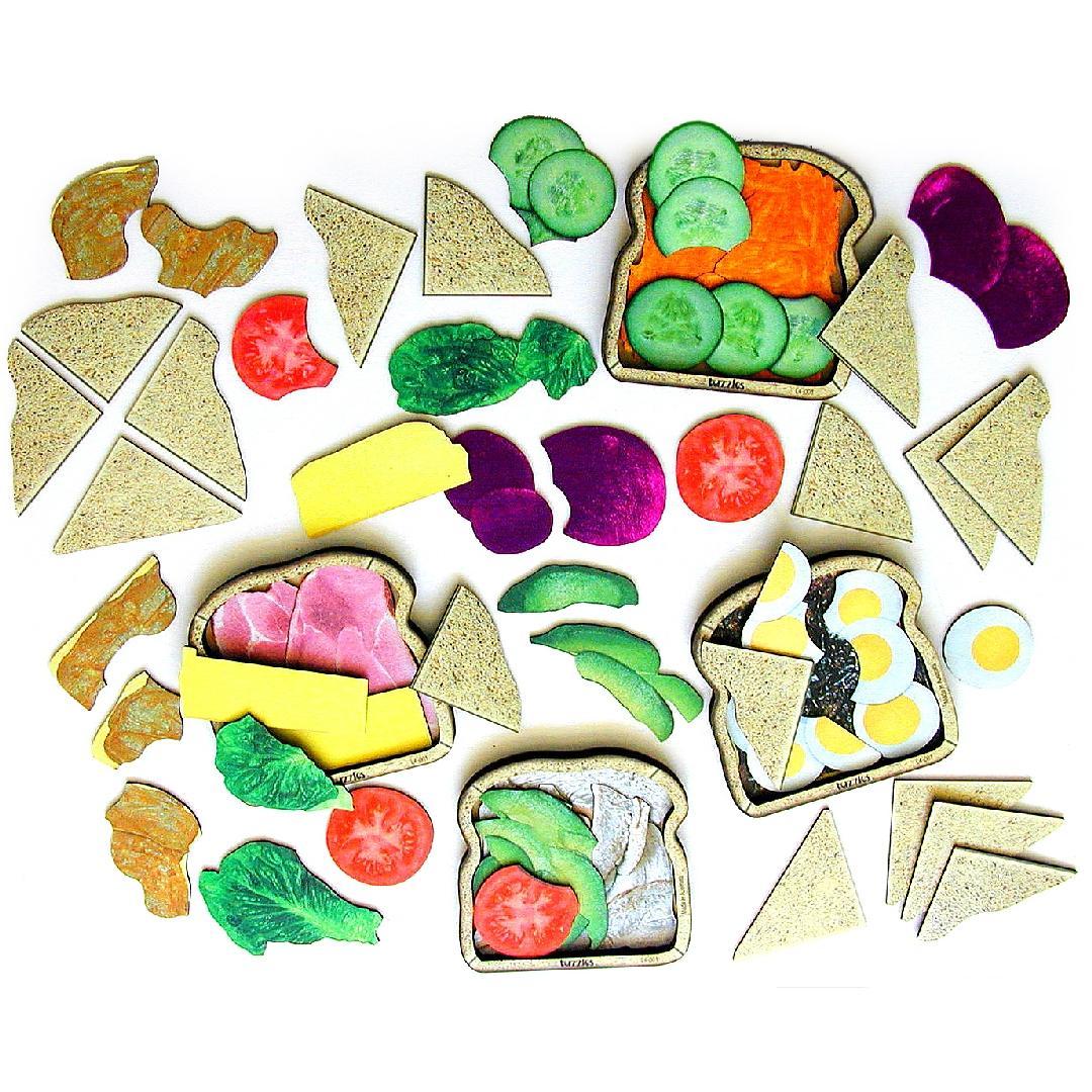Layered Sandwich Puzzles