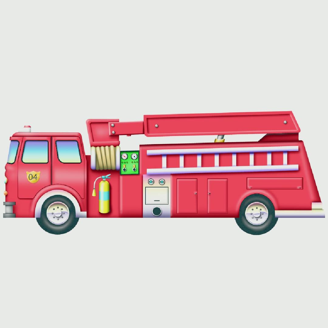 Fire Engine Table Puzzle (12pcs)