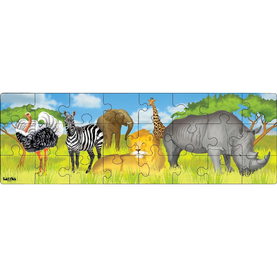 African Animals Puzzle Freize