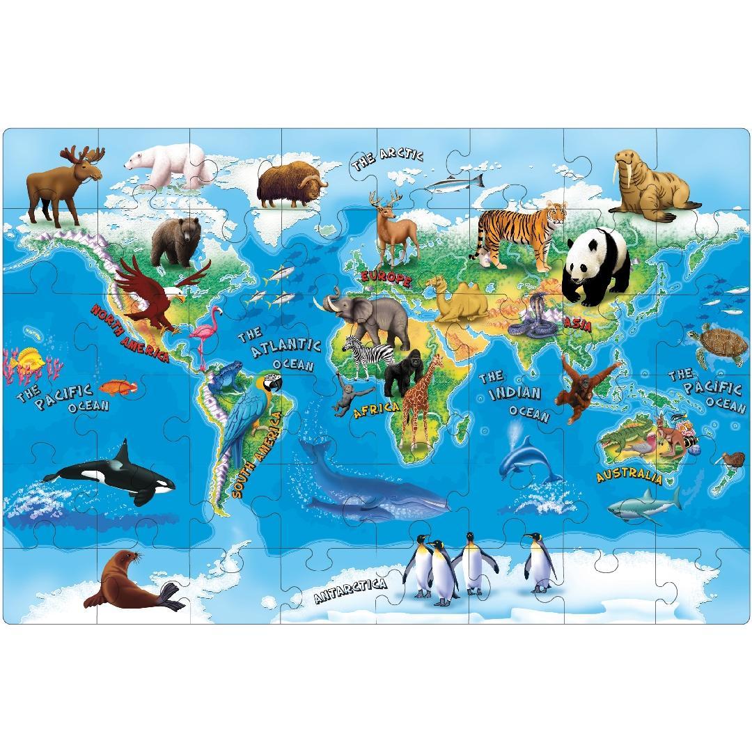 Animals of the World Floor Puzzle (48pcs)