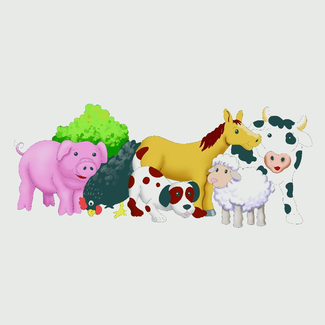 Farm Animals Floor Puzzle (40pcs)