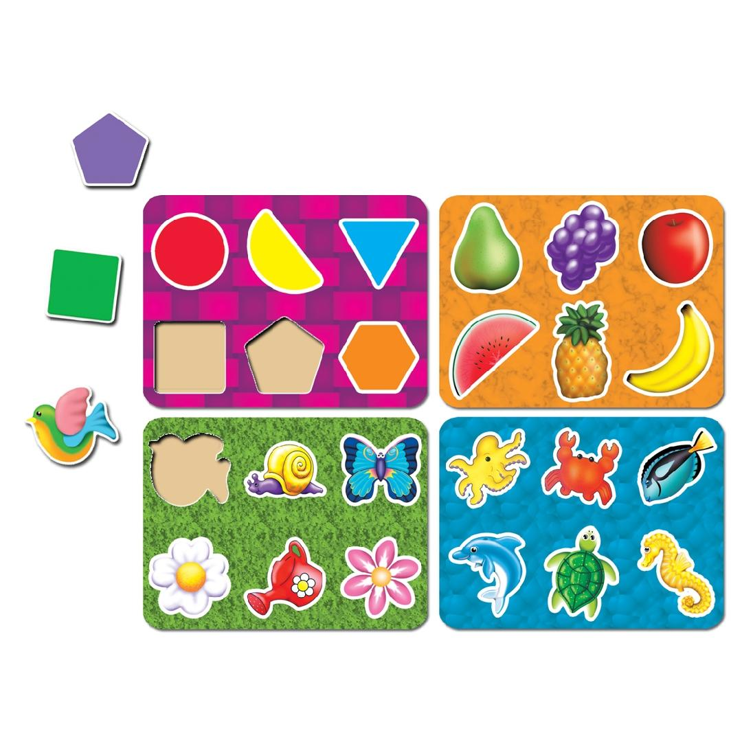 Feel & Match Puzzles (Set of 4)