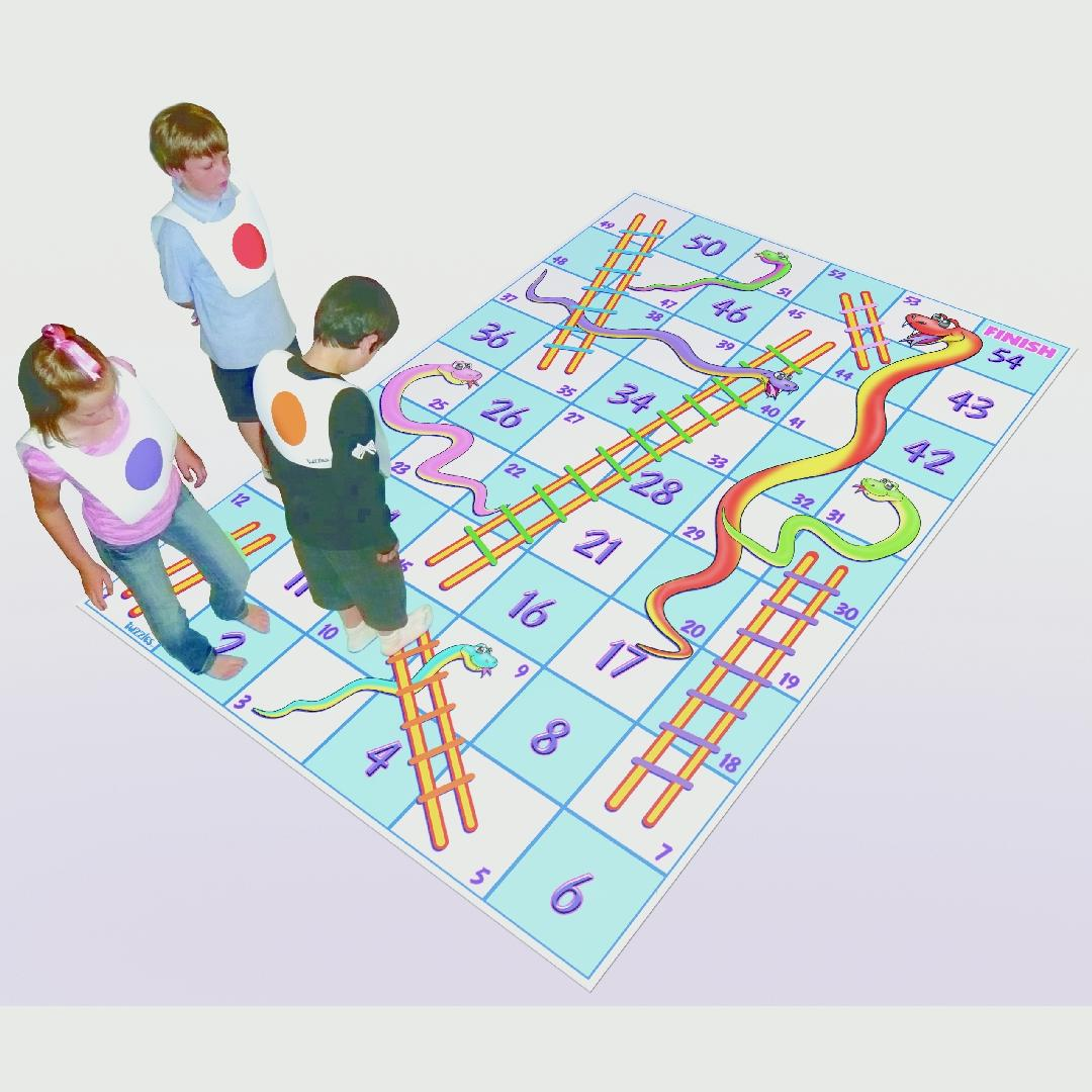 Snakes & Ladders Mat Game