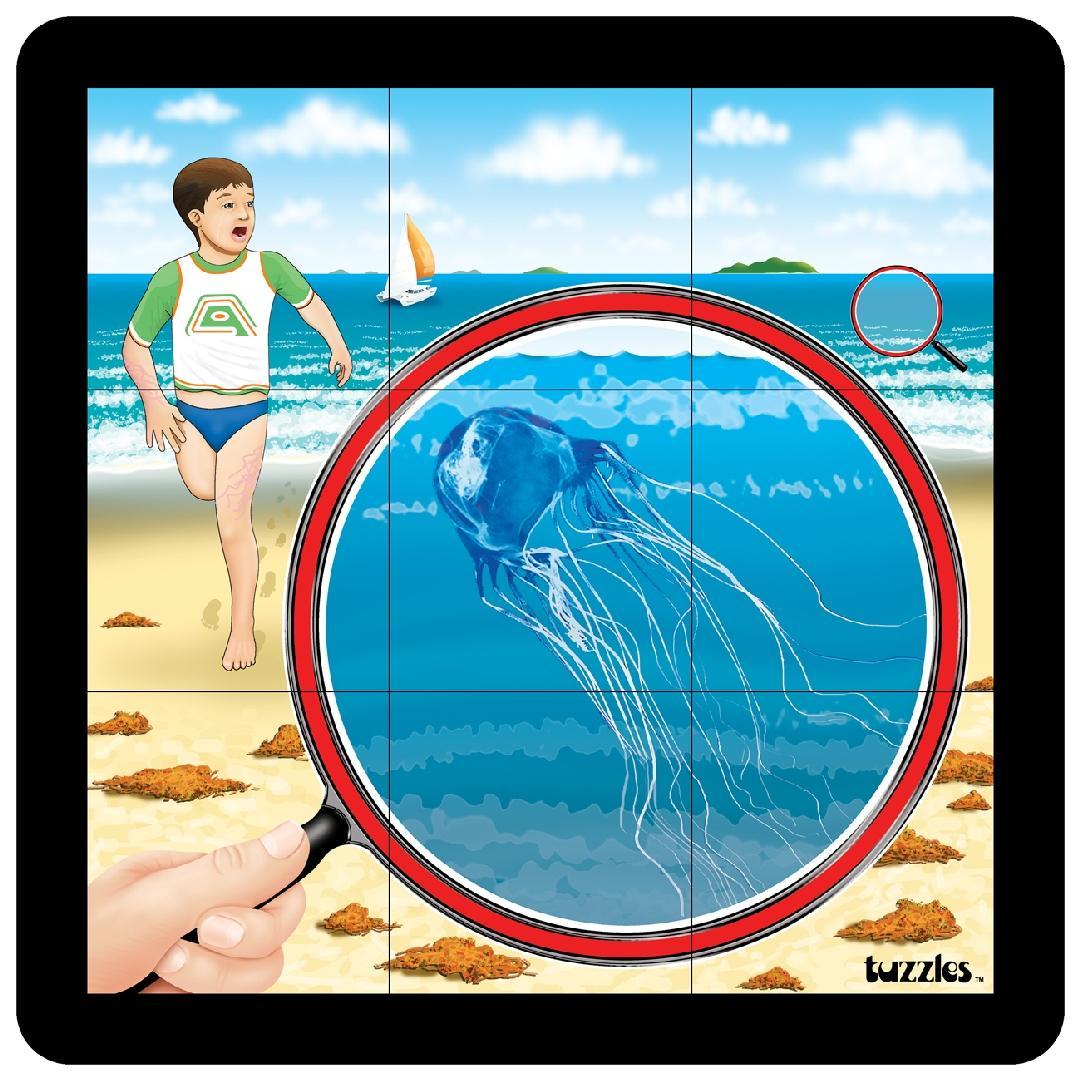 Jelly Fish Grid Puzzle (9pcs)