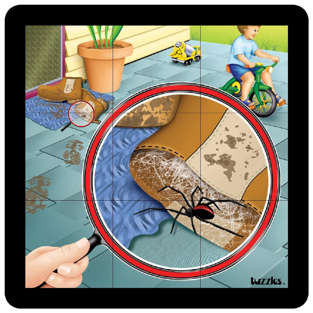 Red Back Spider Grid Puzzle (9pcs)